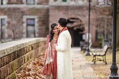 This Indian bride and groom celebrate their wedding day with lovely outdoor portraits.