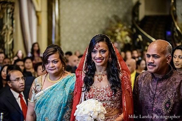 Ceremony in Garfield, NJ Indian Fusion Wedding by Mike Landis Photographer