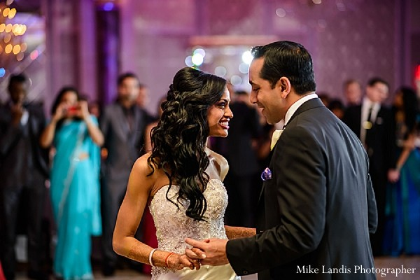 Reception in Garfield, NJ Indian Fusion Wedding by Mike Landis Photographer