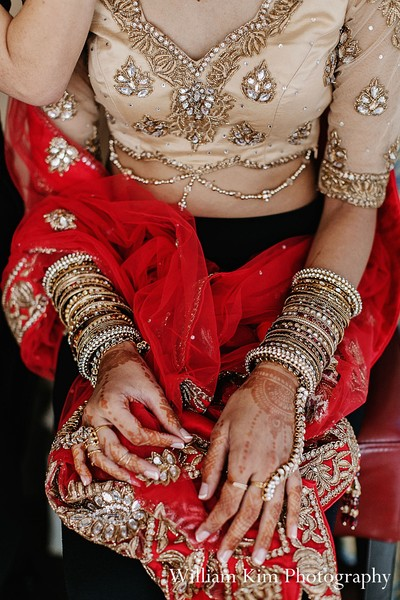 Getting ready in Westlake Village, CA Indian Wedding by William Kim Photography