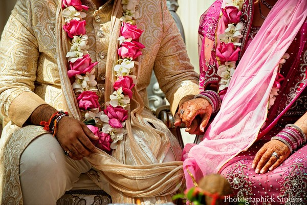 Ceremony in Vienna, VA Indian Wedding by Photographick Studios