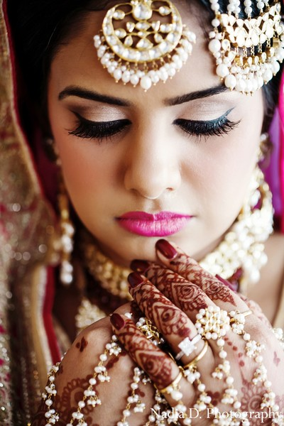 Hair & Makeup in Washington, DC Indian Wedding by Nadia D. Photography