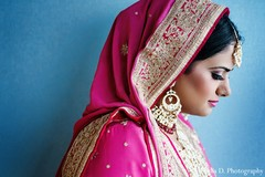 An Indian bride takes some portraits.
