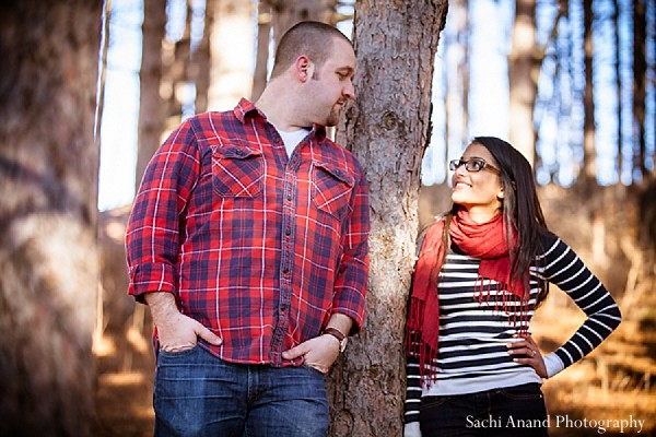 Engagement portraits in New Albany, PA Indian Engagement by Sachi Anand Photography
