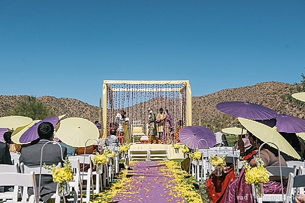 Ceremony in Tuscon, AZ Indian Wedding by Rad Photographer