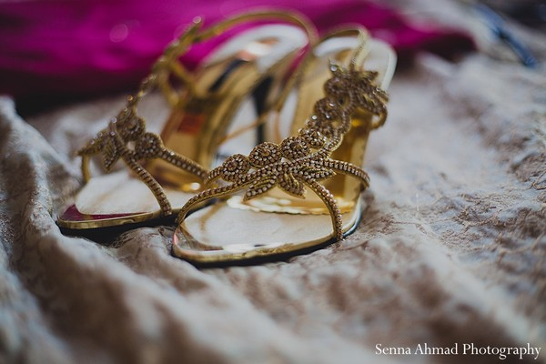 Getting ready in Hanover, MD Indian Wedding by Senna Ahmad Photography
