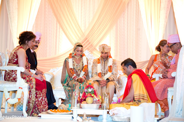 Ceremony in New York, NY Indian Wedding by MaxPhoto NY