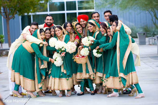 indian bridal party,indian bridesmaids,indian bridesmaid outfits,indian bride,indian wedding portraits,indian wedding portrait,portraits of indian wedding,indian wedding ideas,indian wedding photography,indian wedding photo,indian bride and groom photography