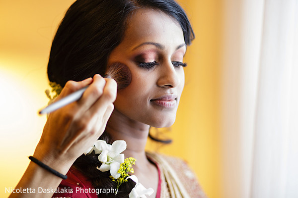 Getting ready in Orange County, CA Indian Wedding by Nicoletta Daskalakis Photography