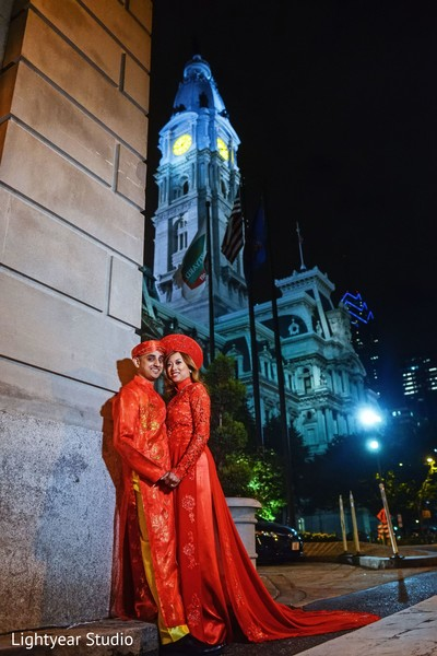 Portraits in Philadelphia, PA Indian Fusion Wedding by Lightyear Studio