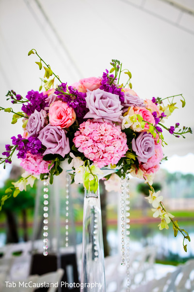 Floral and decor in Orlando, FL Indian Wedding by Tab McCausland Photography
