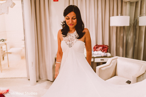 Bridal fashions in Beacon Falls, NY Indian Fusion Wedding by Golden Hour Studios