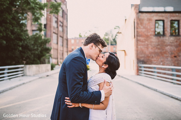 Portraits in Beacon Falls, NY Indian Fusion Wedding by Golden Hour Studios