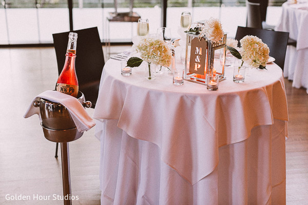 Reception in Beacon Falls, NY Indian Fusion Wedding by Golden Hour Studios