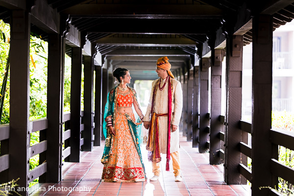 Portraits in Pasadena, CA Indian Wedding by Lin and Jirsa Photography