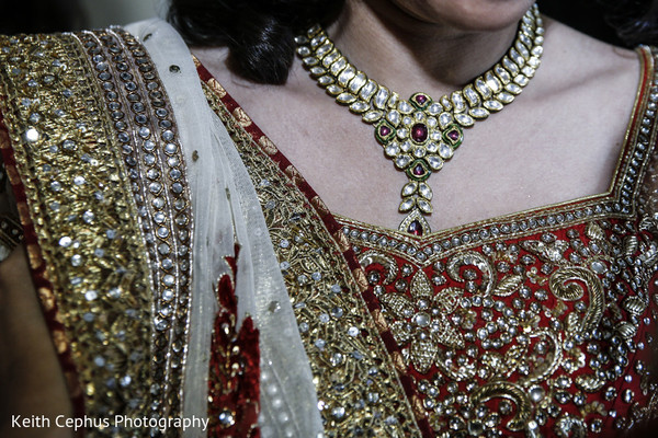 Bridal Jewelry in Norfolk, VA Indian Wedding by Keith Cephus Photography