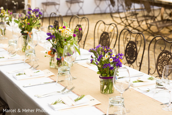 Floral and decor in Healdsburg, CA Indian Wedding by Marcel & Meher Photography
