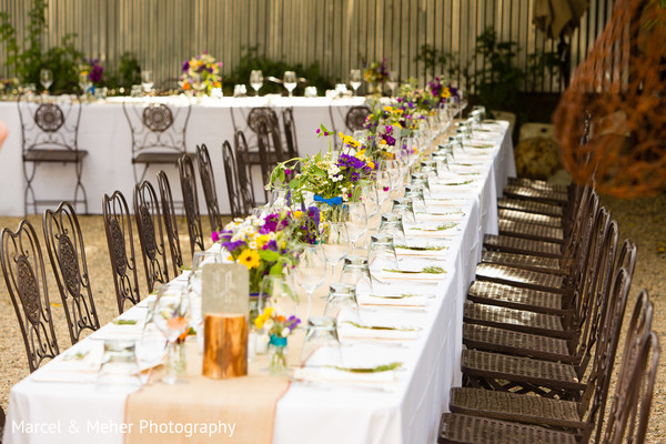 Reception in Healdsburg, CA Indian Wedding by Marcel & Meher Photography