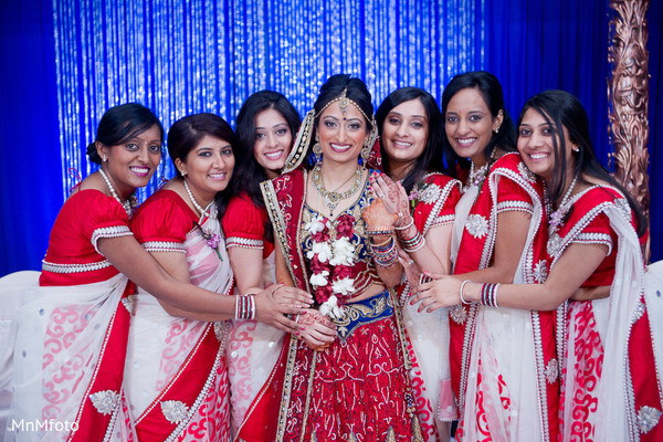 indian bridal party,indian bridesmaids,indian bridesmaid outfits,indian sari,indian weddings