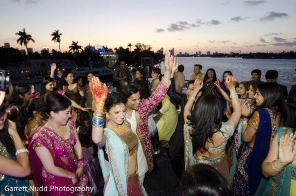 Sangeet in Miami Beach, FL Indian Wedding by Garrett Nudd Photography
