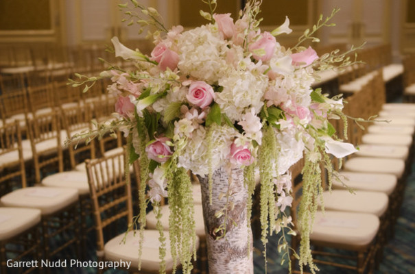 Floral and decor in Miami Beach, FL Indian Wedding by Garrett Nudd Photography