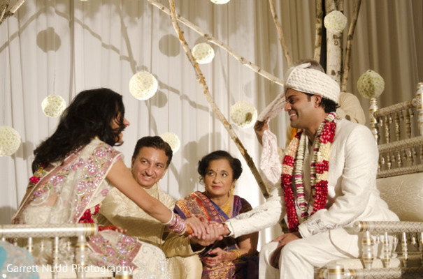 Ceremony in Miami Beach, FL Indian Wedding by Garrett Nudd Photography