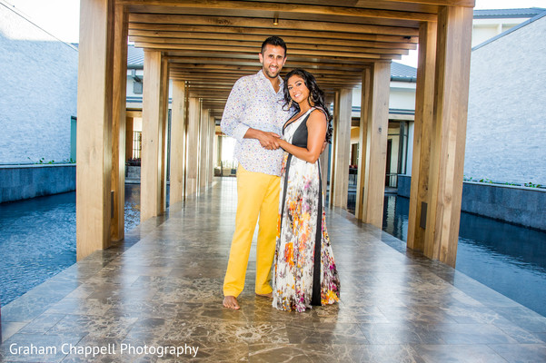 Engagement portraits in Wailea, Maui Indian Engagement by Graham Chappell Photography