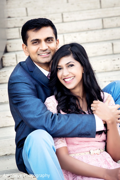 Engagement portraits in Long Beach, CA Indian Engagement by Aaroneye Photography