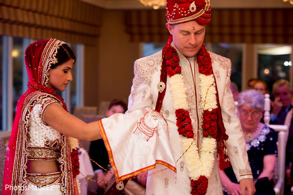 Ceremony in Morristown, NJ Indian Fusion Wedding by PhotosMadeEz