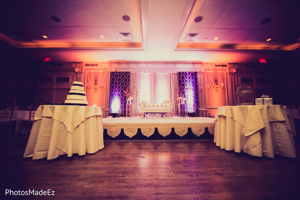 Reception in Morristown, NJ Indian Fusion Wedding by PhotosMadeEz