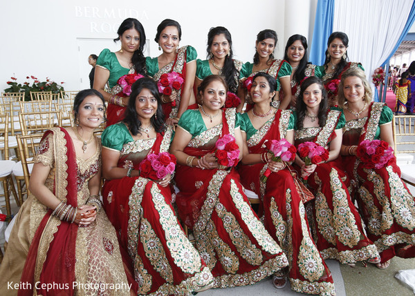 indian bridal party,indian bridesmaids,indian bridesmaid outfits,indian bride,indian sari