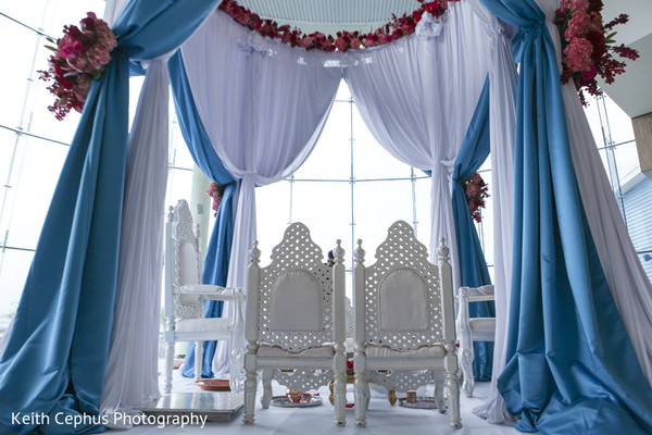 Mandap in Norfolk, VA Indian Wedding by Keith Cephus Photography