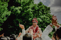 This groom kicks off his Indian wedding with a fabulous baraat.