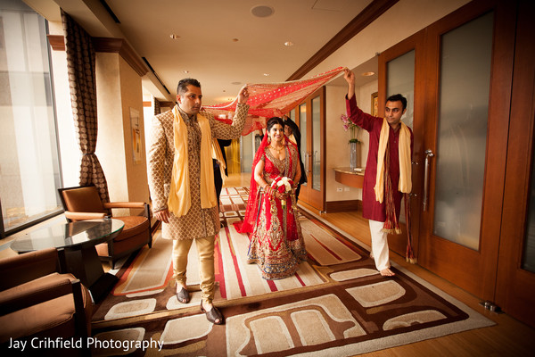 Ceremony in Chicago, IL Indian Wedding by Jay Crihfield Photography