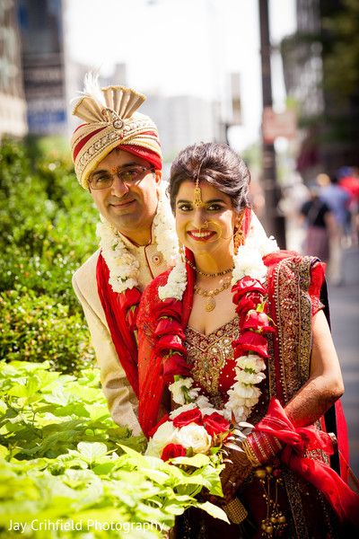 Portraits in Chicago, IL Indian Wedding by Jay Crihfield Photography