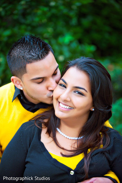 Engagement portraits in Disney Style Indian Engagement by Photographick Studios