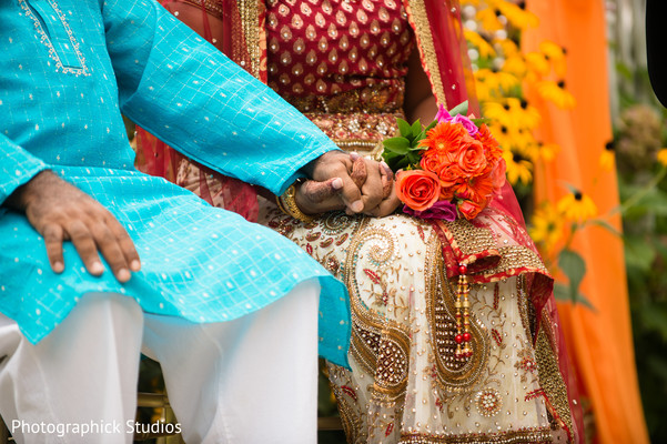 Ceremony in Silver Spring, MD Indian Wedding by Photographick Studios