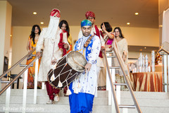 An Indian bride and groom wed in a traditional Hindu ceremony.