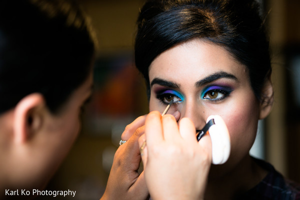 Hair & Makeup in Indian Wedding Inspiration Shoot by Karl Ko Photography