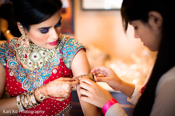 Getting Ready in Indian Wedding Inspiration Shoot by Karl Ko Photography