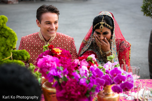 Reception in Indian Wedding Inspiration Shoot by Karl Ko Photography