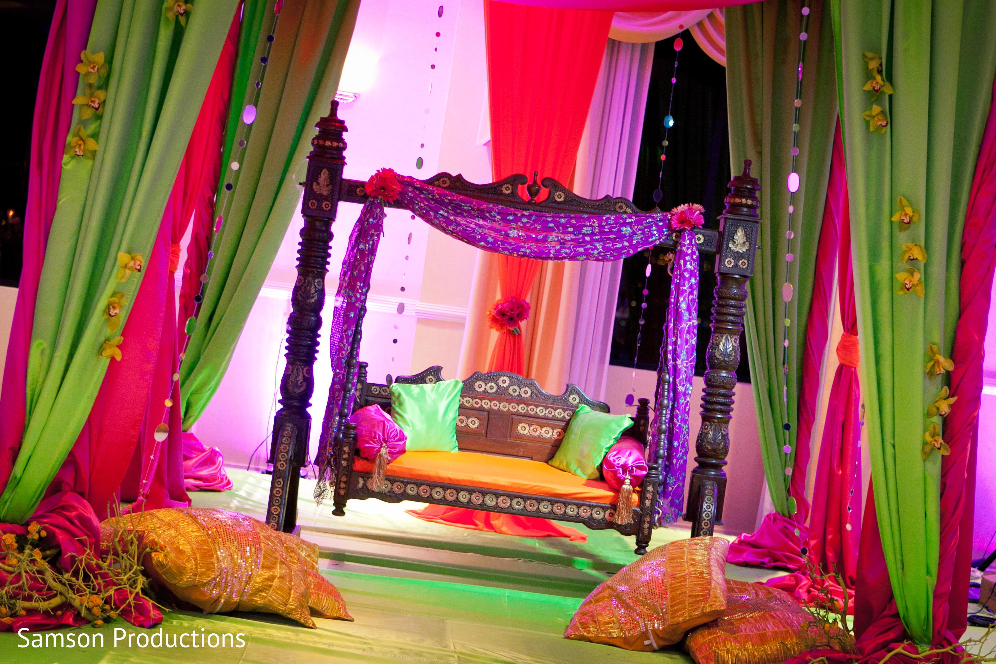 Mehndi night in anaheim ca pakistani wedding by samson for Pakistani bedrooms decoration