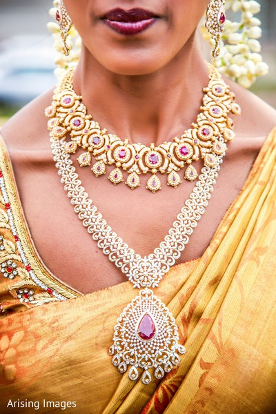 Bridal jewelry in Dearborn, MI Indian Wedding by Arising Images
