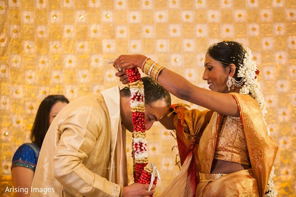 Ceremony in Dearborn, MI Indian Wedding by Arising Images