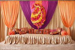 An Indian bride celebrates at her sangeet.