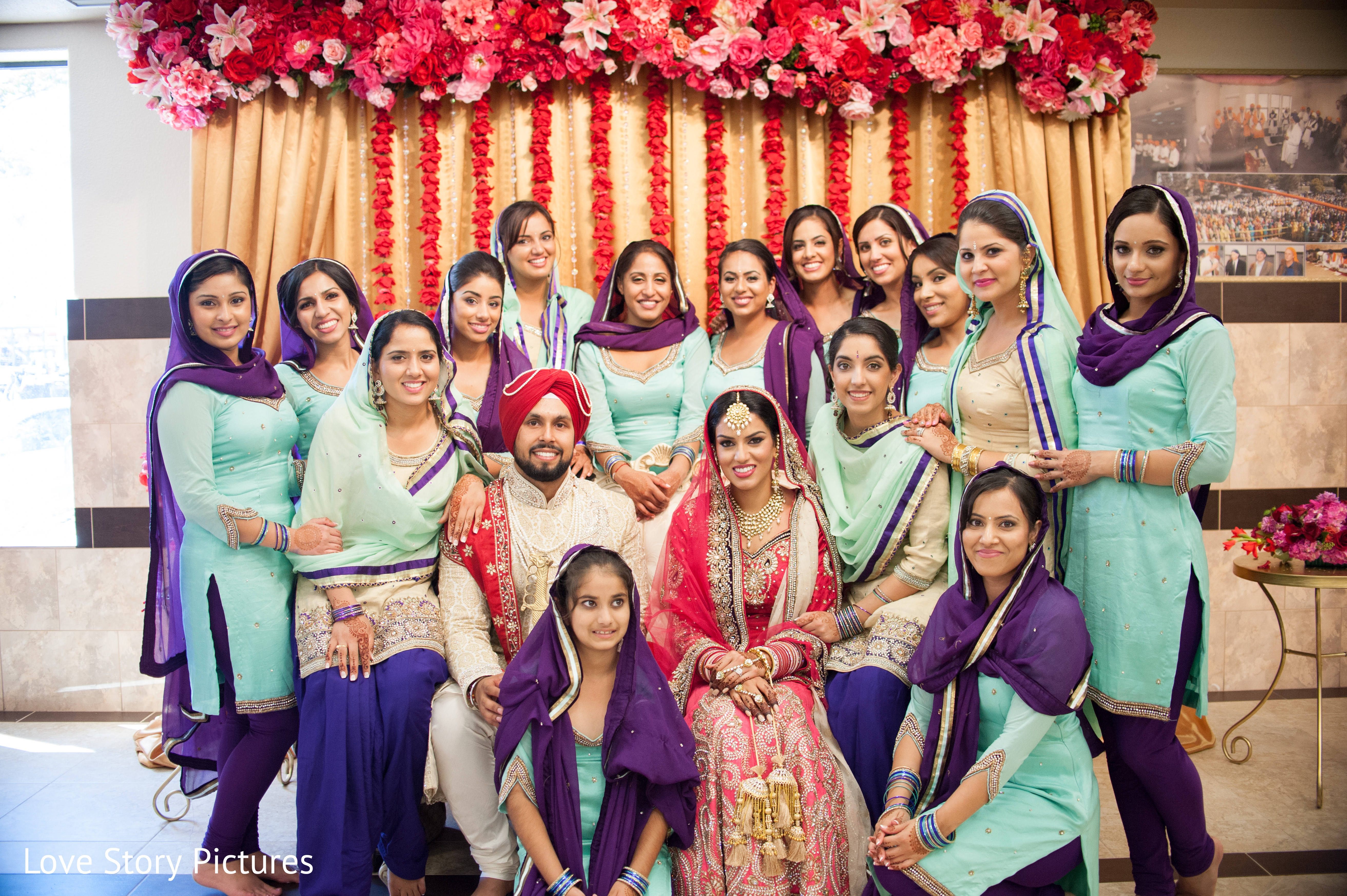 Bridal Party In Sacramento CA Indian Wedding By Love Story Pictures