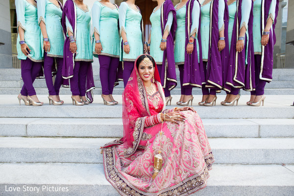 Bridal Party in Sacramento, CA Indian Wedding by Love Story Pictures