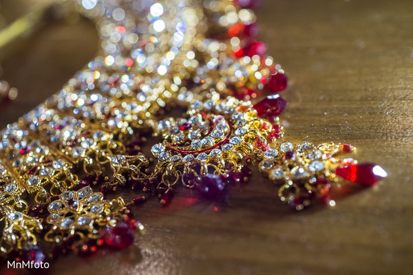 Bridal jewelry in North Dallas, TX Indian Wedding by MnMfoto