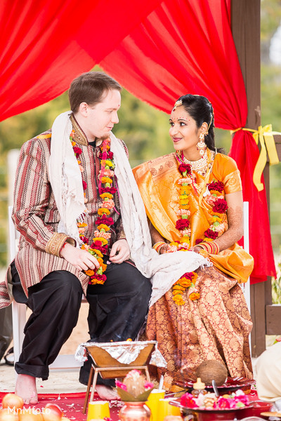 Ceremony in North Dallas, TX Indian Wedding by MnMfoto