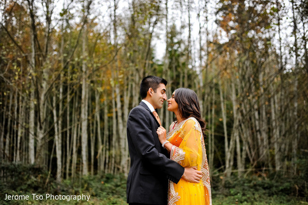 Engagement in Snoqualmie, WA Indian Engagement by Jerome Tso Photography